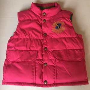 Girls reversible down puffer vest size 8/10 medium